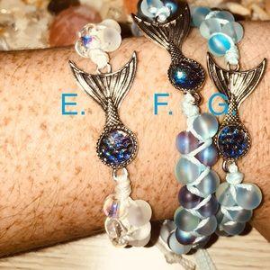 E: Mermaid Glass Shamballa Bracelet